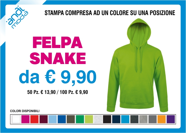 promozione felpa snake
