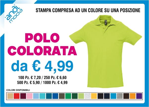 promozione polo colorata