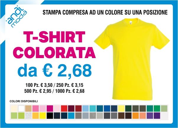 promozione tshirt colorata