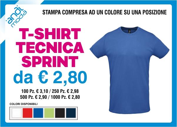 promozione tshirt tecnica sprint