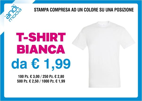 promozione tshirt bianca